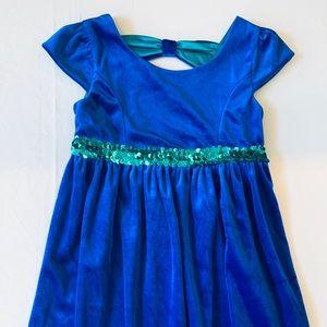Girls Formal Crush Velvet/Sequin Dress George 6-6X